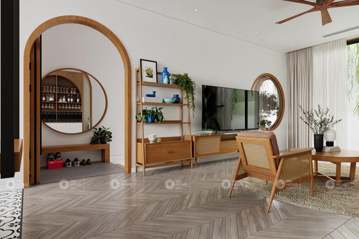 Bố trí nội thất phòng khách tối giản