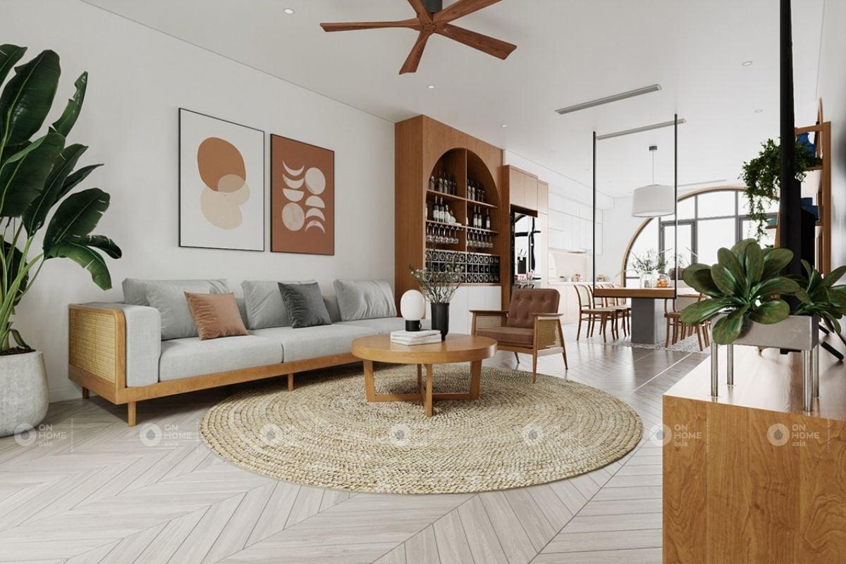 Không gian nội thất phòng khách nhà ống đẹp