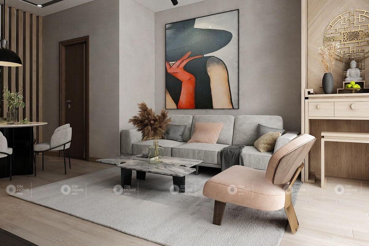 Chất liệu sofa bằng vải nỉ đẹp