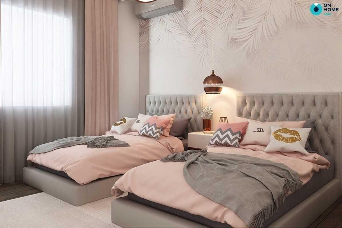 Giường đôi phòng ngủ cho bé gái