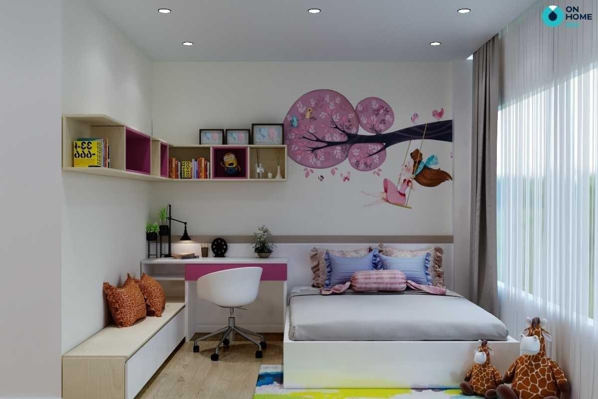 Phòng ngủ bé gái đẹp tiện nghi