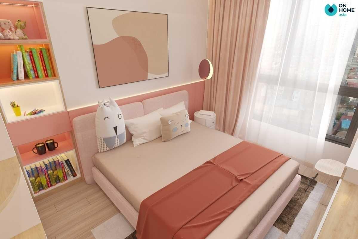 Nội thất phòng ngủ trẻ em màu pastel