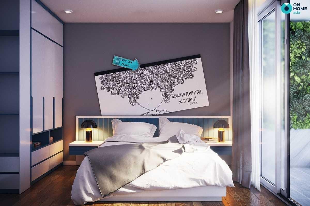 Phòng ngủ cho bé gái 15 tuổi đơn giản