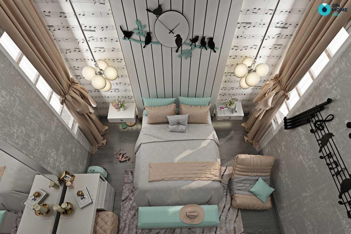 Phòng ngủ bé gái hiện đại, độc đáo