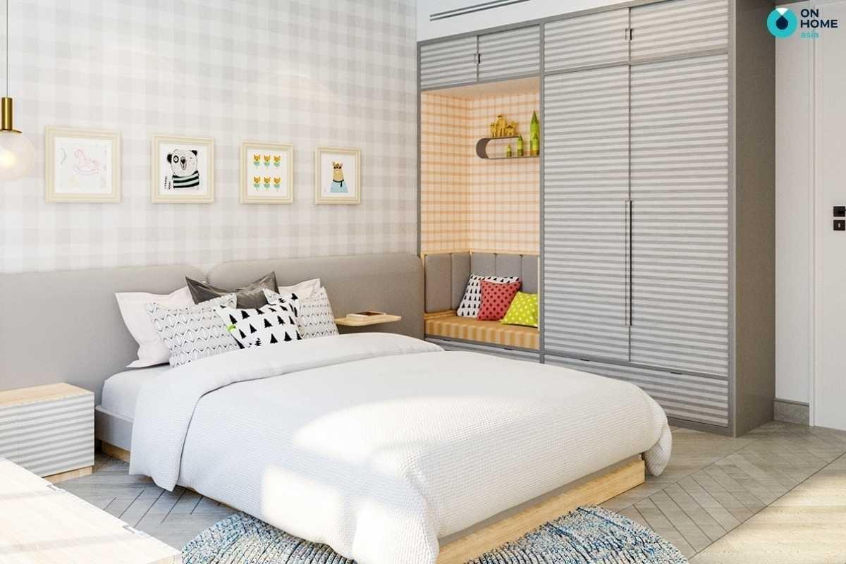 Phòng ngủ bé gái đẹp đơn giản