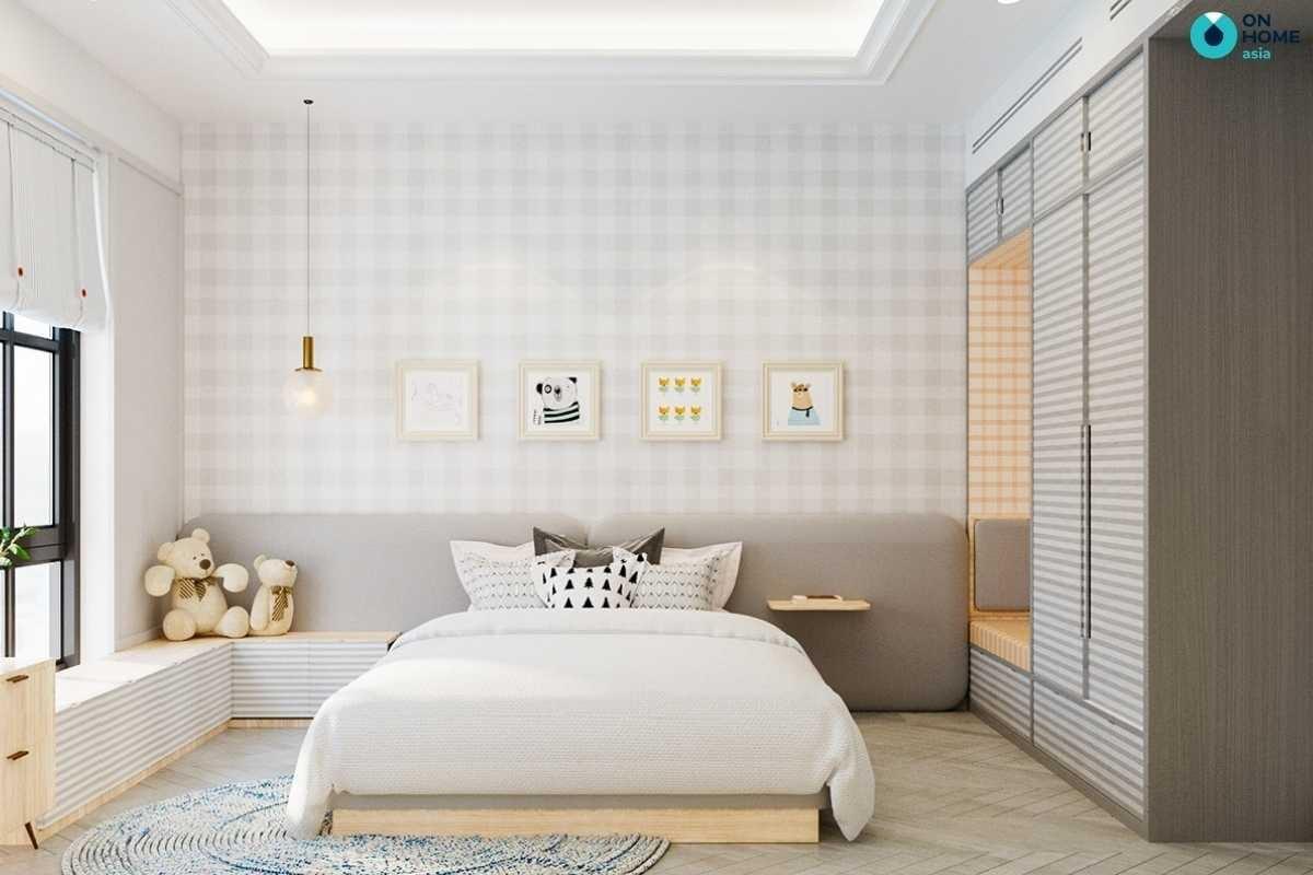 Thiết kế phòng ngủ bé gái đơn giản