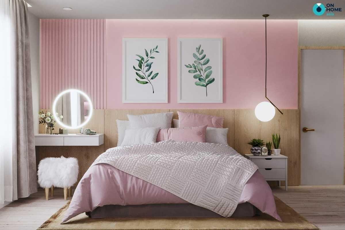Phòng ngủ con gái đẹp thanh lịch