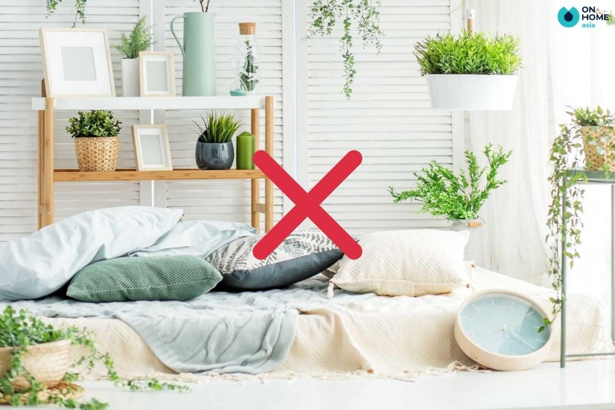 không đặt quá nhiều cây xanh trong phòng ngủ