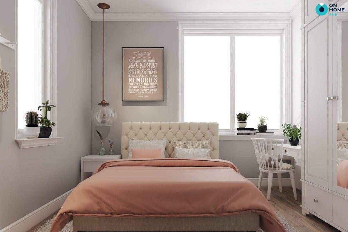 Phòng ngủ hình vuông hợp phong thủy
