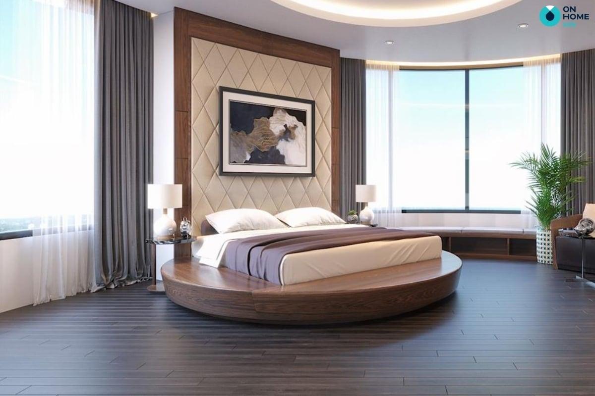 phòng ngủ hình tròn