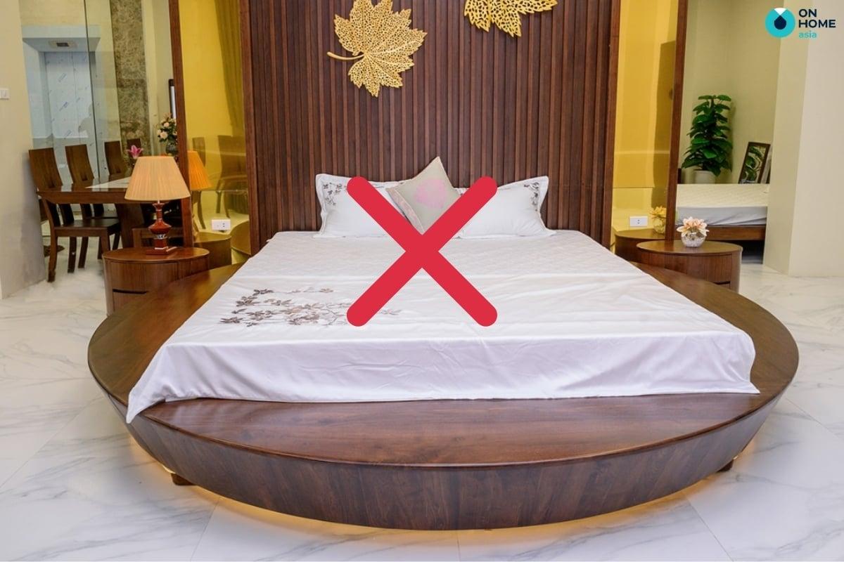 giường ngủ hình tròn không nên