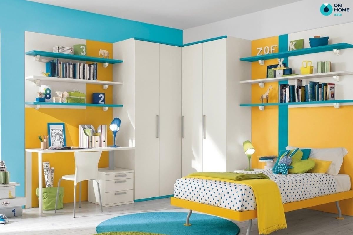 Phòng ngủ trẻ em nên có những màu tươi mới