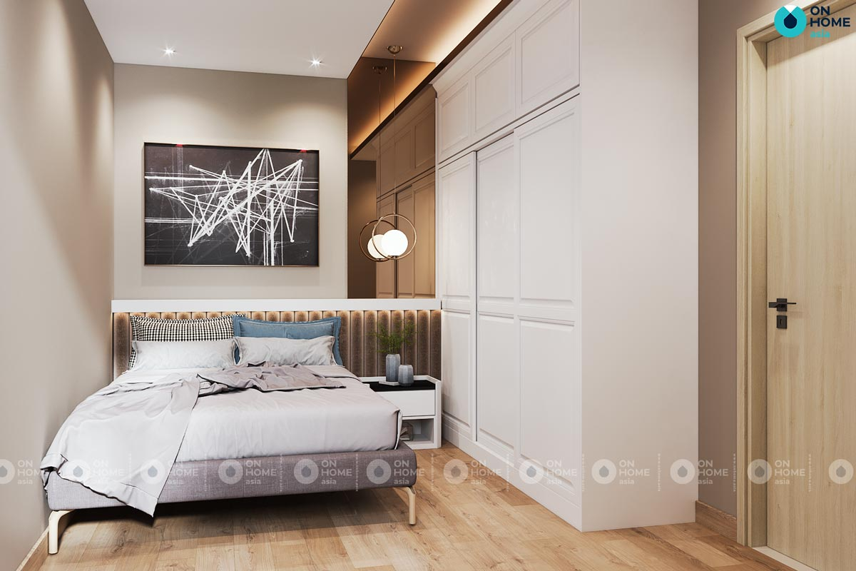 Bản vẽ phối cảnh 3D nội thất thất phòng ngủ nhỏ