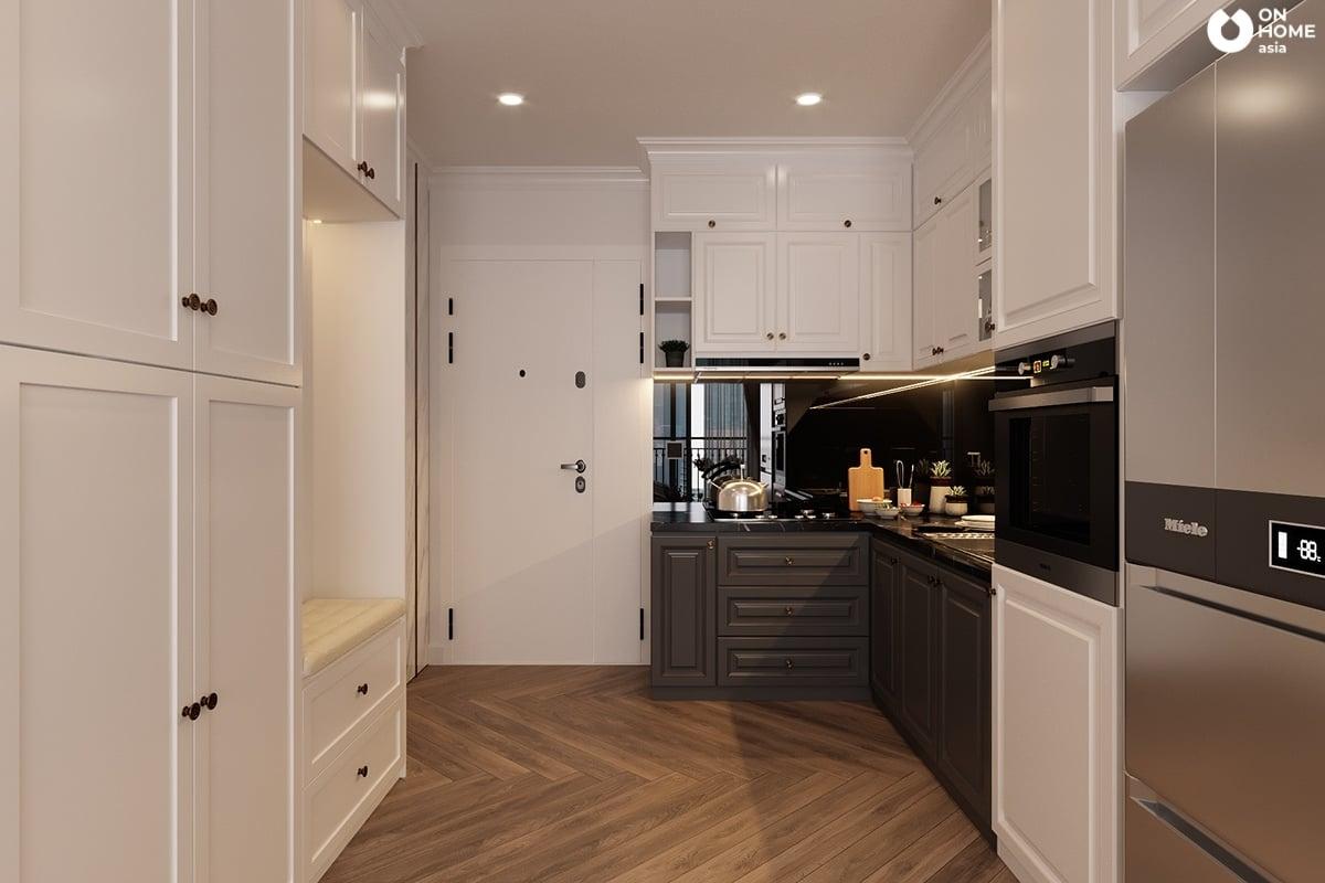 mẫu 1 không gian bếp