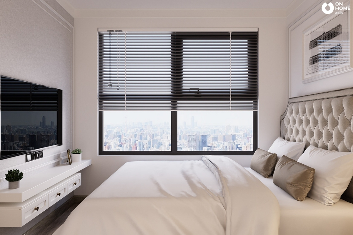 mẫu 1 phòng ngủ lớn tân cổ điển