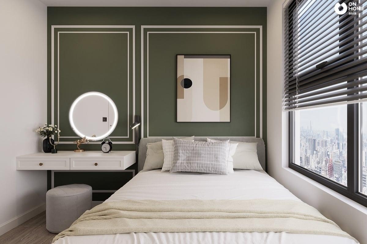 mẫu 1 phòng ngủ nhỏ tân cổ điển đẹp