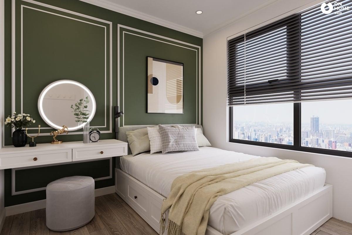 mẫu 1 phòng ngủ nhỏ tân cổ điển