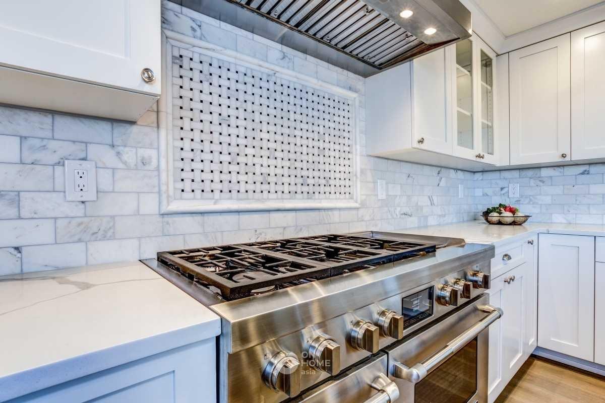 Khu vực bếp nấu ăn của dạng bếp thông minh.