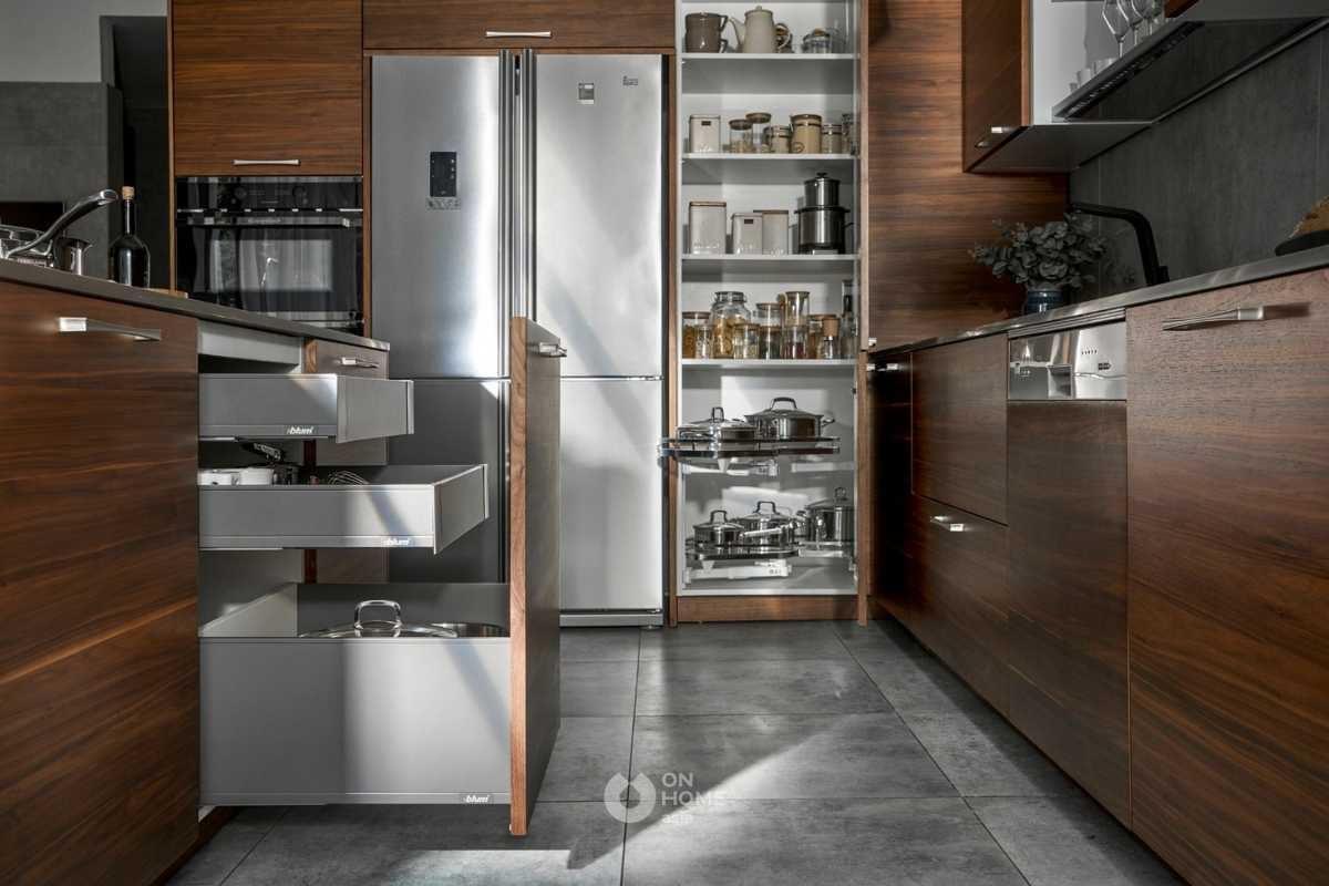 Khu vực để đồ dùng trong bếp.