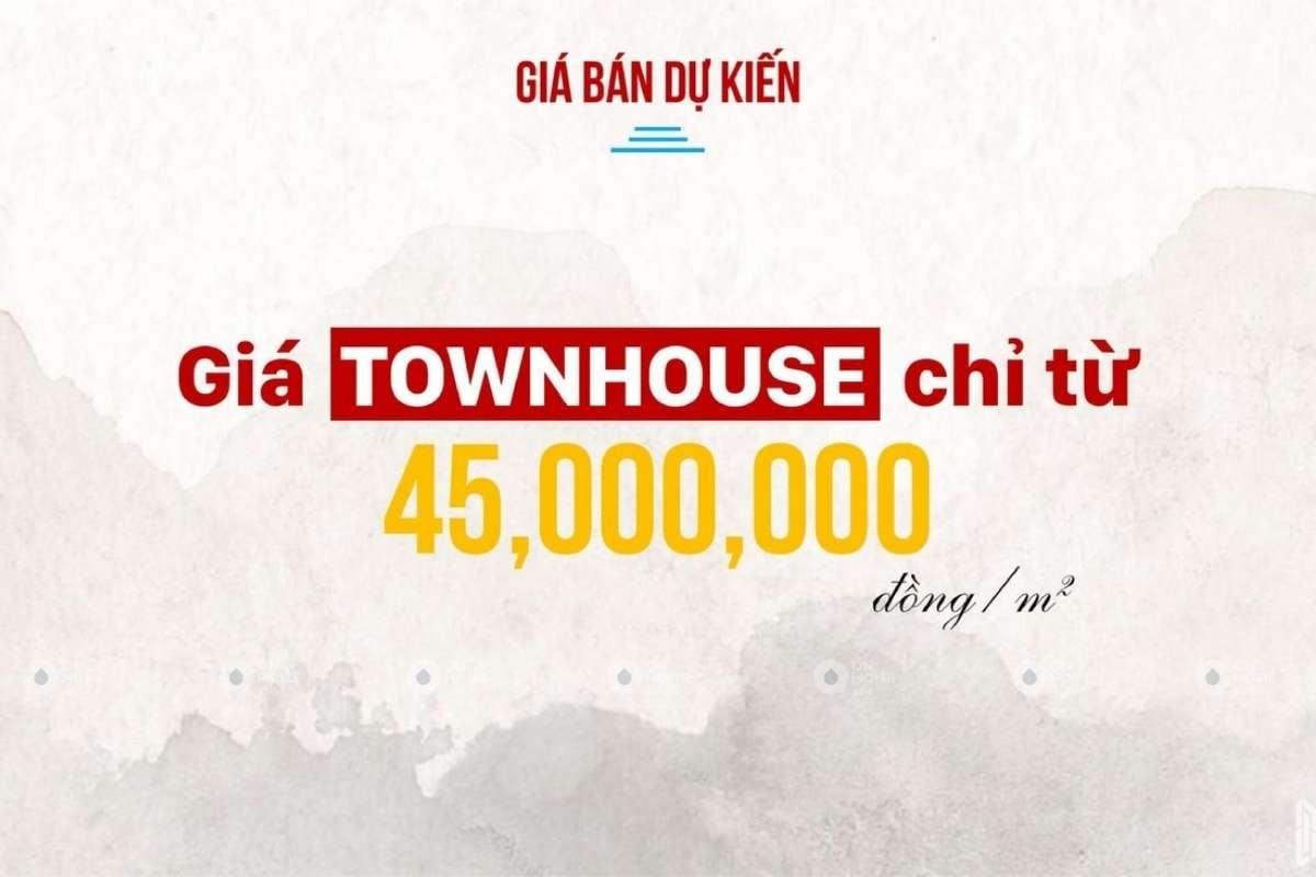 Giá bán dự kiến của nhà phố Takara Residence