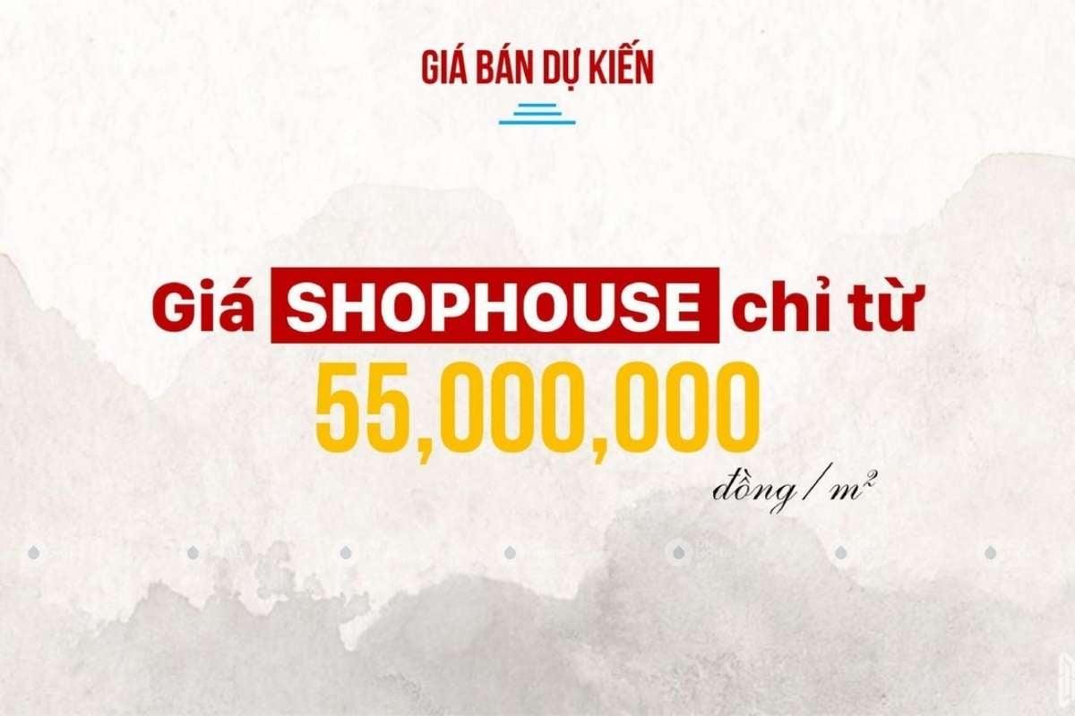 Giá bán của Shophouse Takara