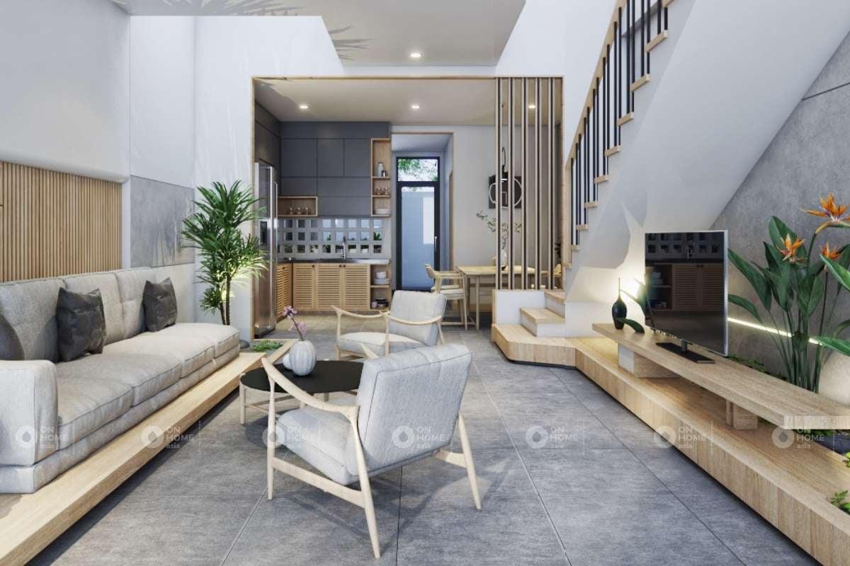 Nội thất phòng khách nhà phố Takara Residence Thủ Dầu Một