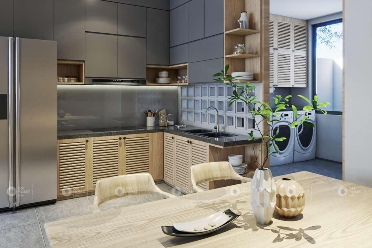 Không gian tủ bếp nhà phố Takara