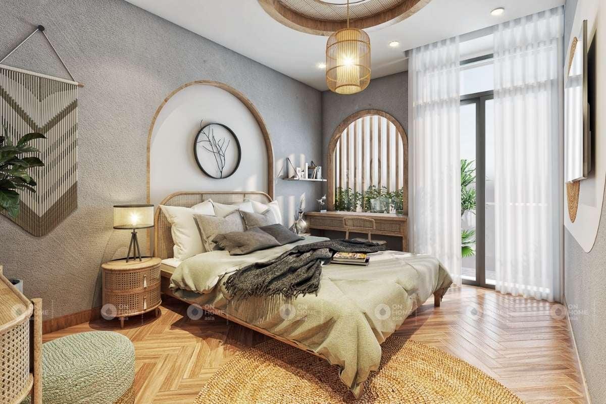 Không gian phòng ngủ đơn giản, ấm cúng