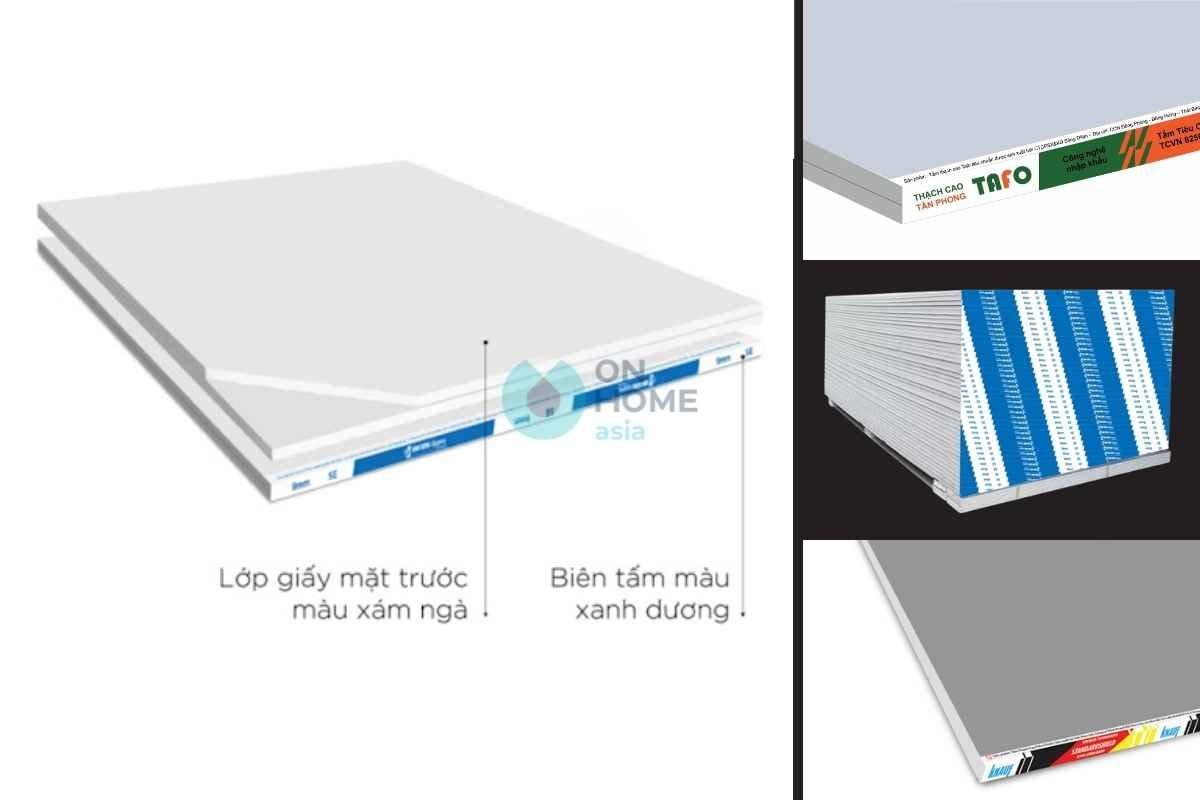 Tấm thạch cao tiêu chuẩn được sử dụng trong nội thất