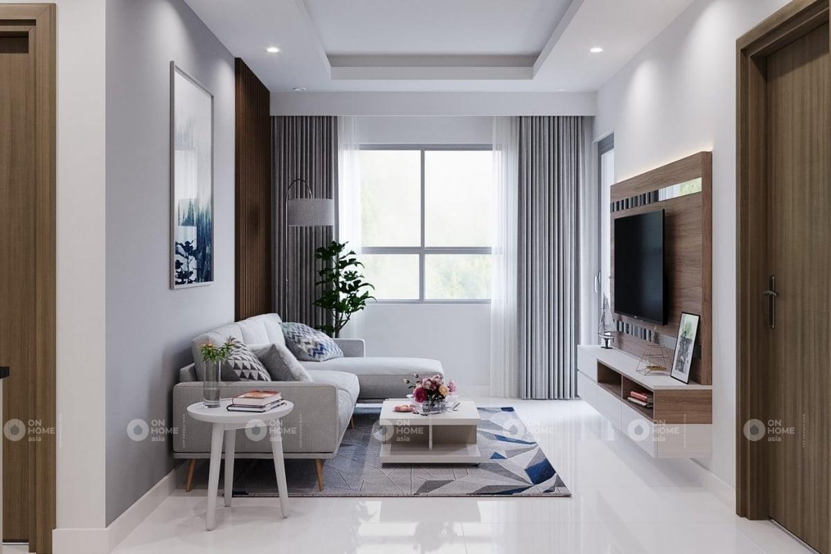 Nội thất phòng khách căn hộ chung cư The View 2 phòng ngủ