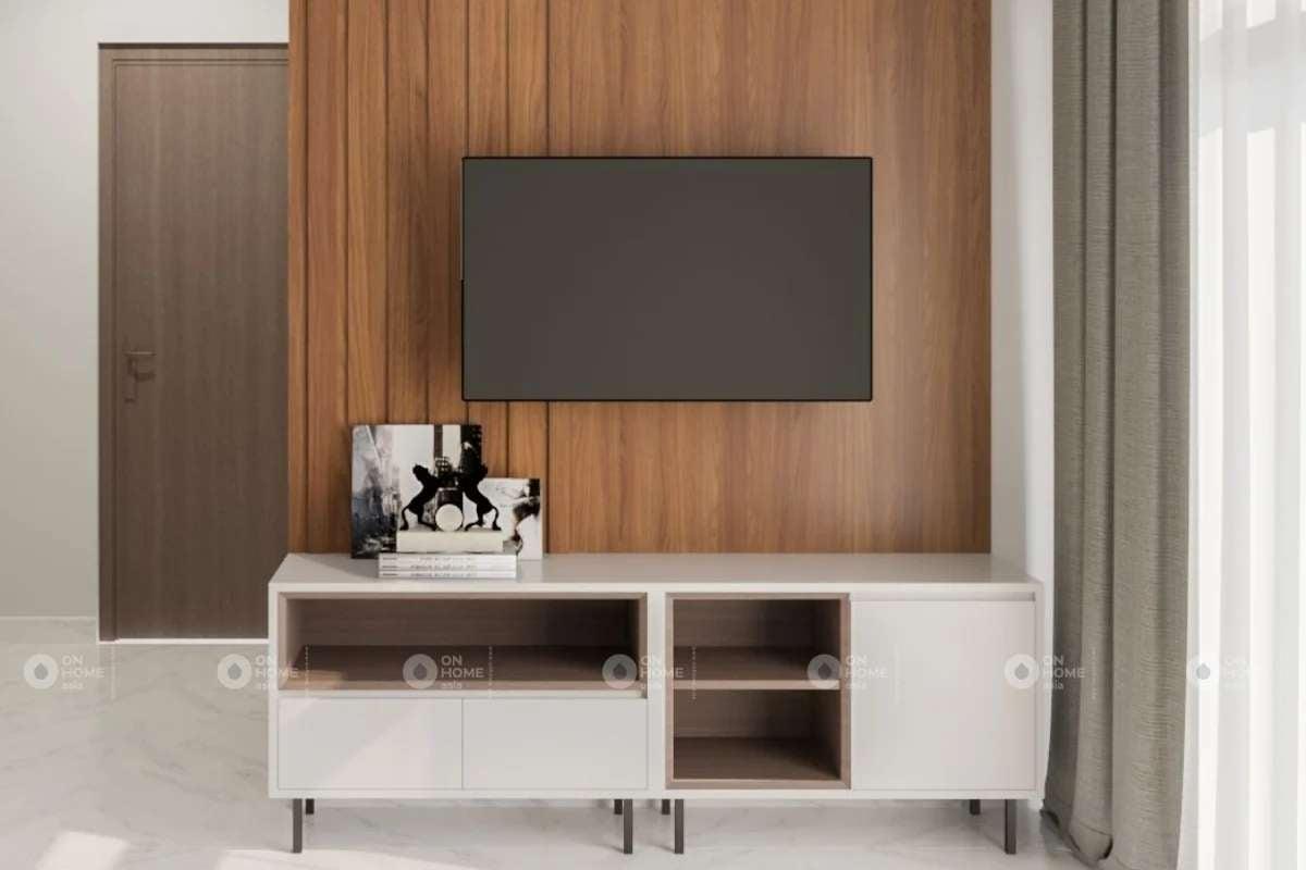 Một góc kệ tivi phòng khách