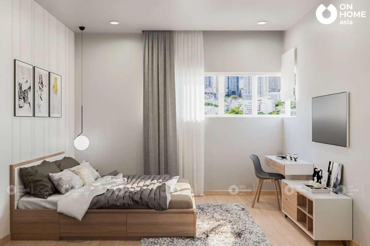 Thiết kế phòng ngủ master đơn giản