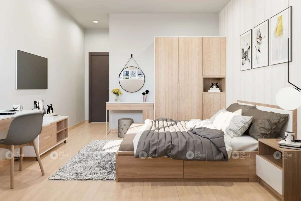 thi công nội thất phòng ngủ master