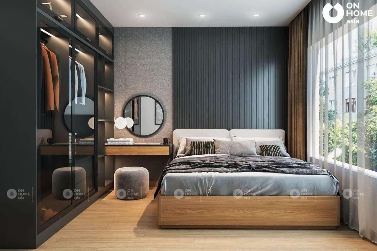 thi công nội thất chung cư với phòng ngủ master