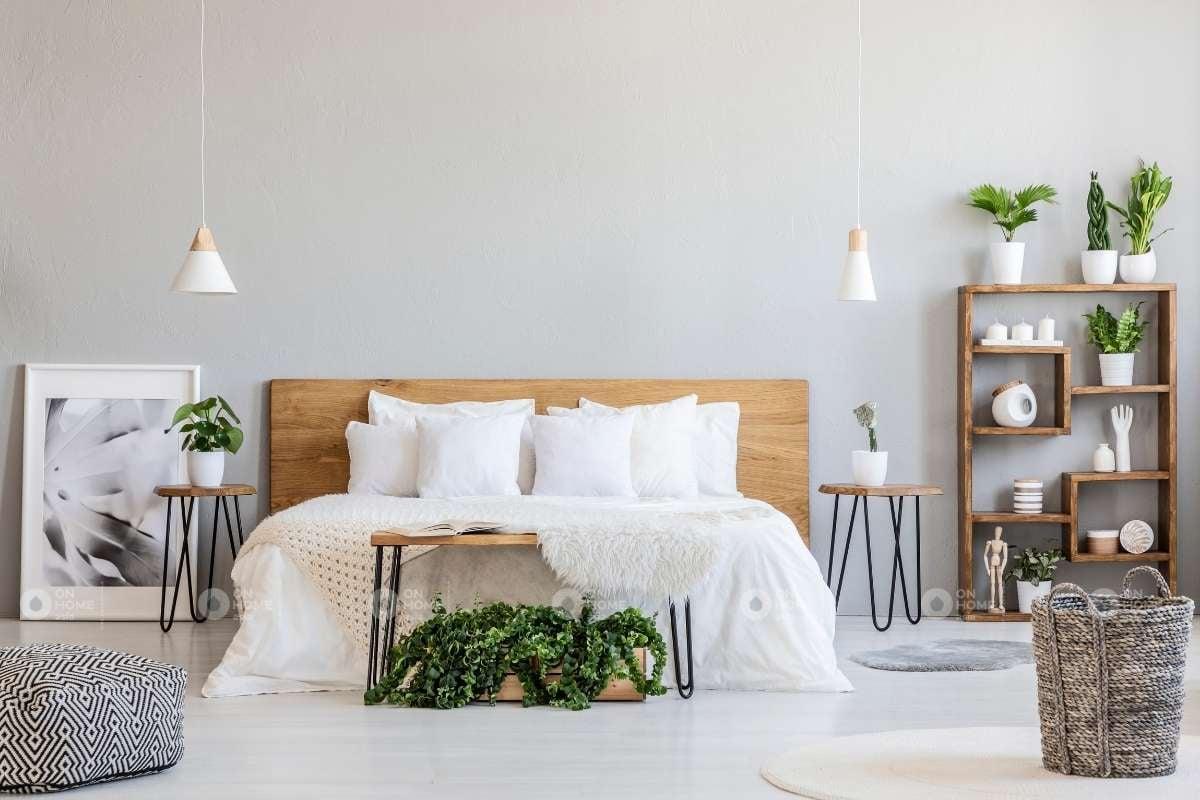 Mẫu giường ngủ với chất liệu bằng gỗ