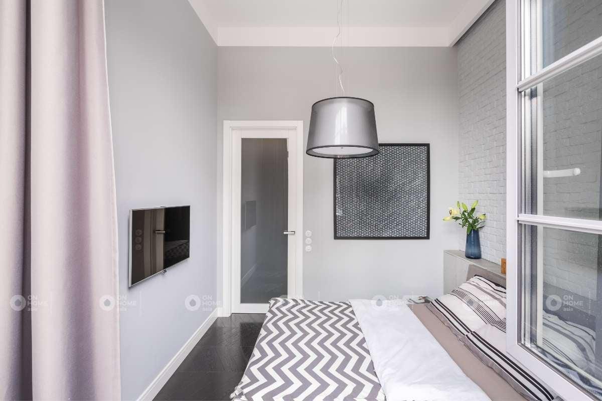 Thiết kế kệ tivi cho phòng ngủ chung cư