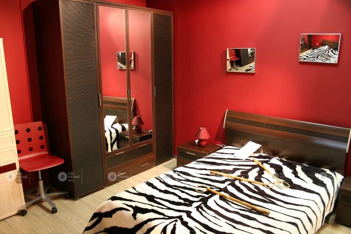 Thiết kế phòng ngủ màu đỏ dành cho người mệnh Hỏa