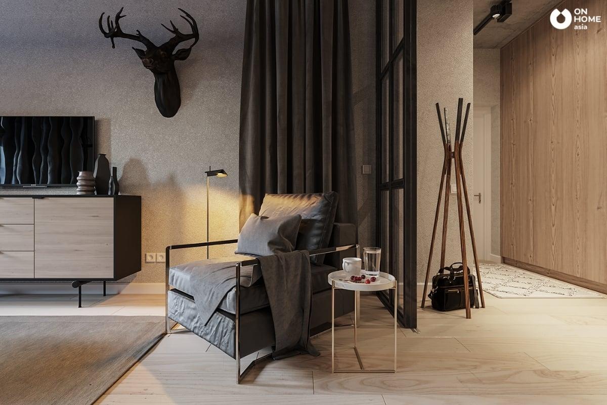 Nội thất căn hộ đẹp với gam màu ấn tượng