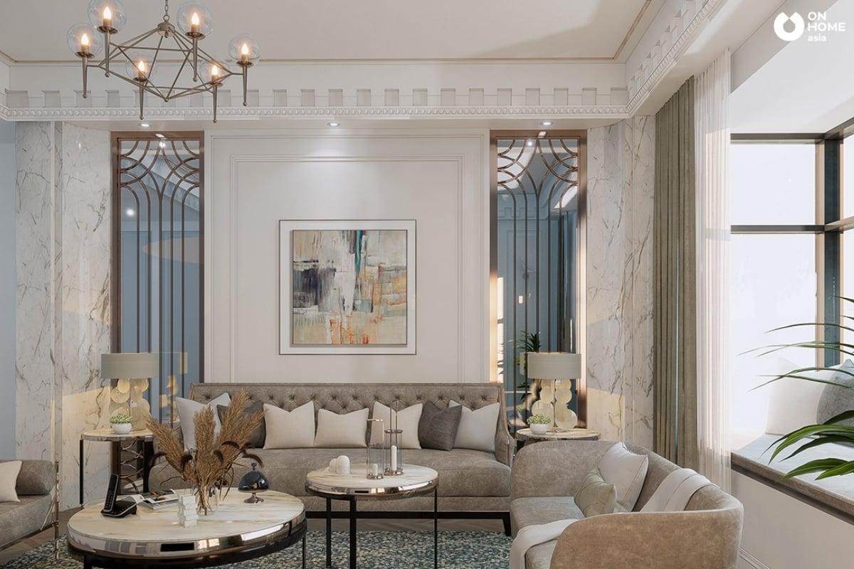 Phòng khách rộng tinh tế