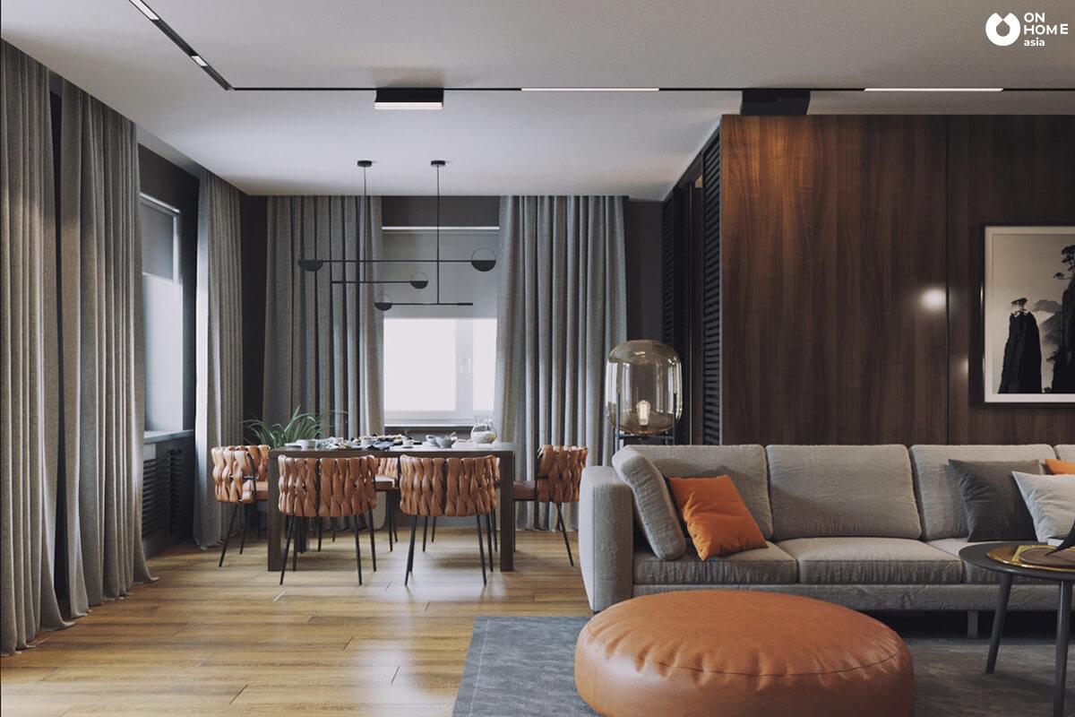 Trang trí nội thất phòng khách với sofa