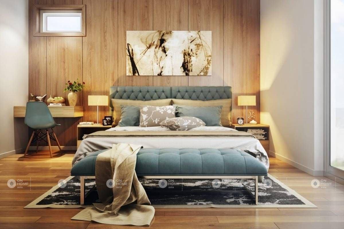 Gạch ốp tường bằng ván gỗ