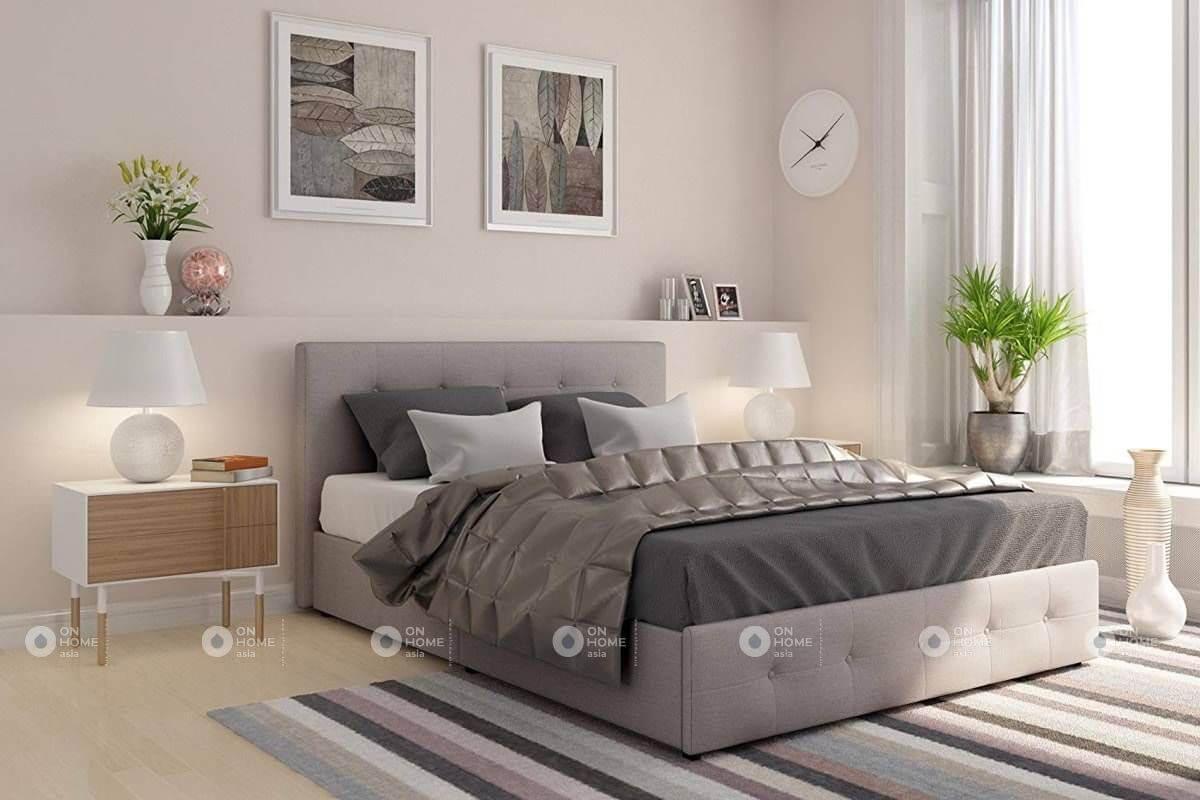 Màu ghi xám là gam màu phù hợp với phòng ngủ