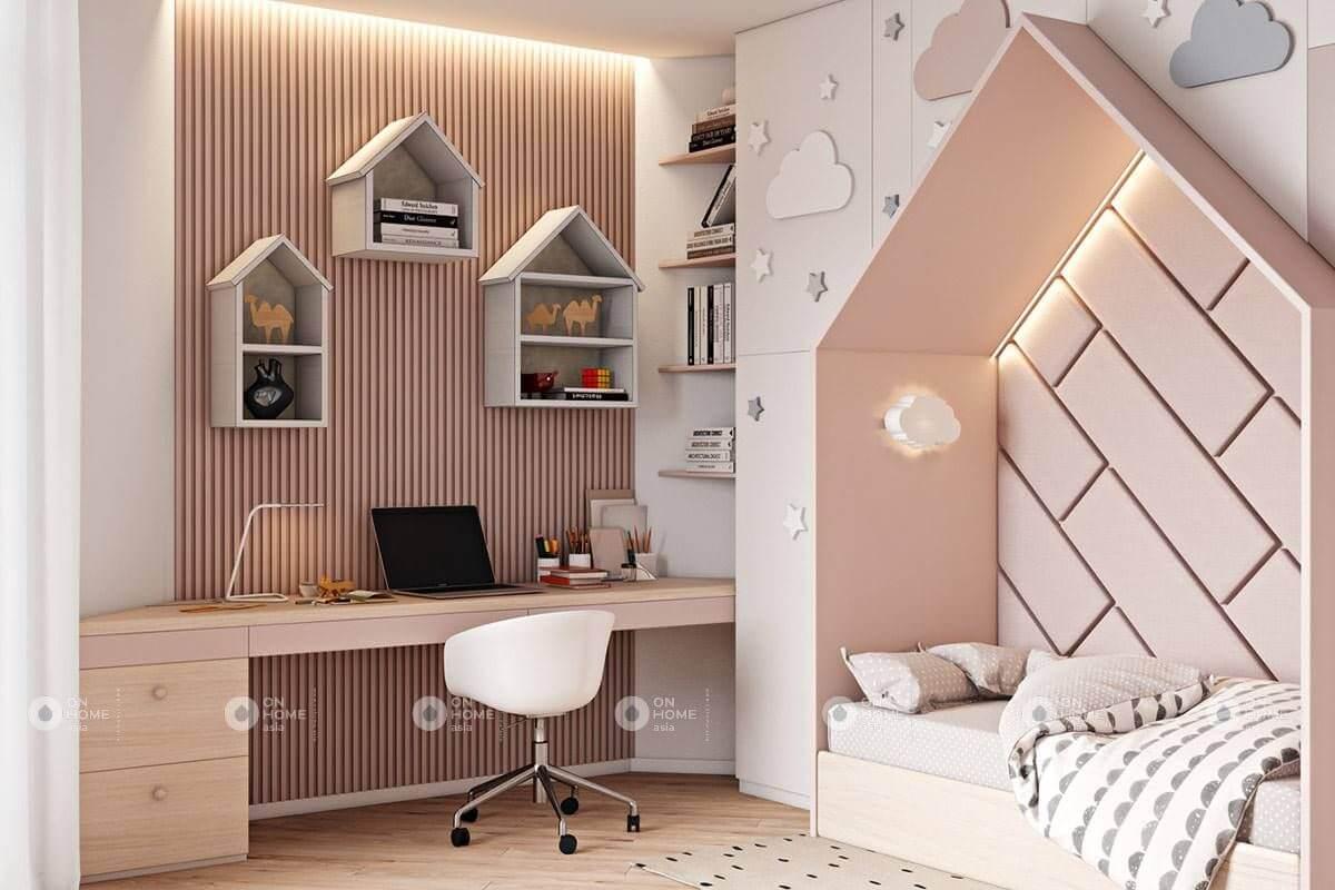 Màu hồng nhạt giúp phòng ngủ dịu dàng và nhẹ nhàng