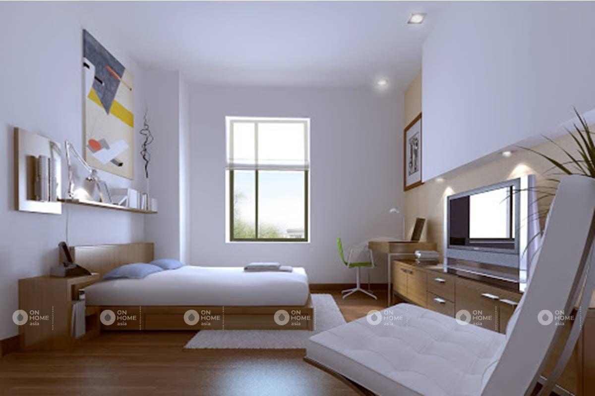 Màu trắng giúp không gian phòng ngủ trở nên tinh tế hơn