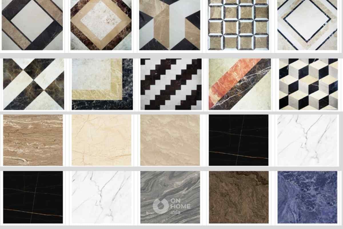 Đá marble phức hợp có nhiều mẫu mã đa dạng