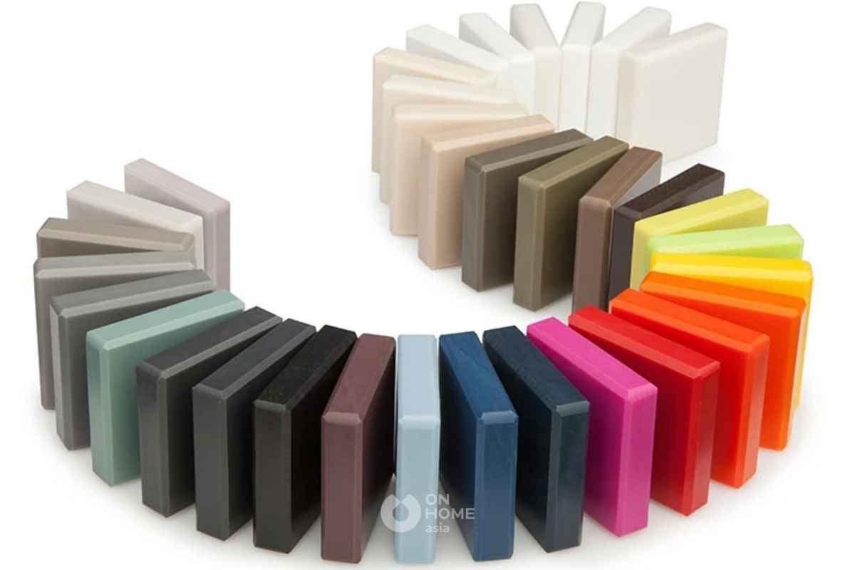 Đá solid surface có nhiều mẫu mã đa dạng phong phú