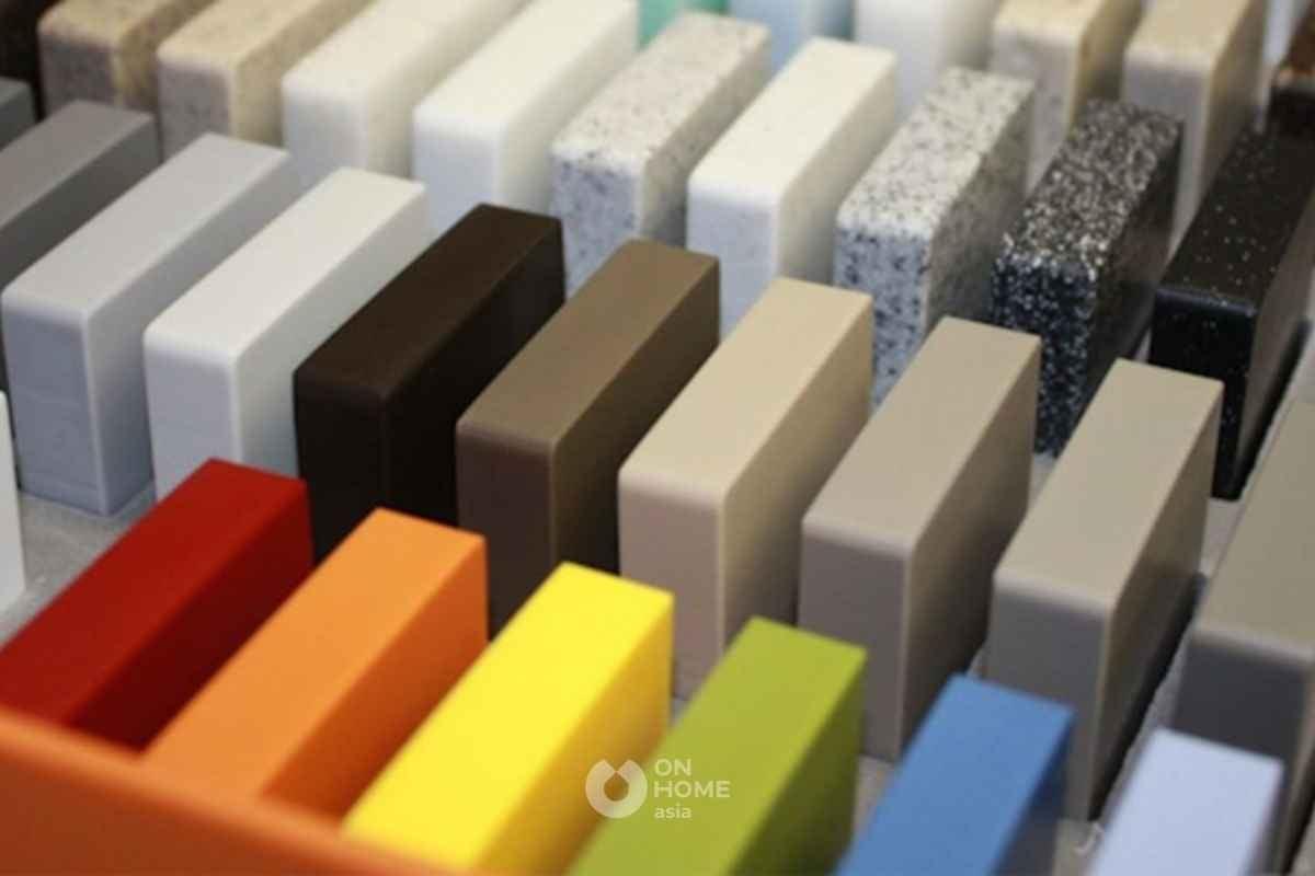 Đá solid surface làm vật liệu nội thất