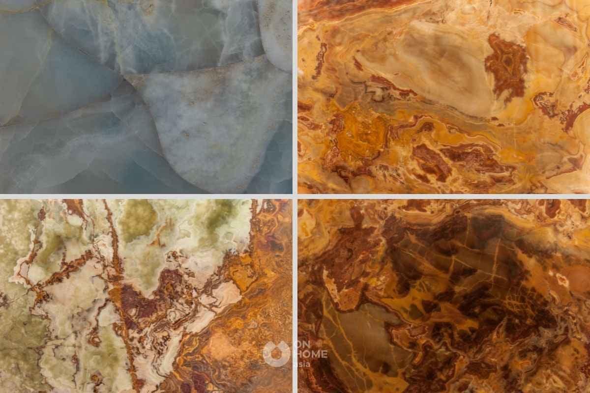 Đá xuyên sáng Onyx tự nhiên trong vật liệu nội thất