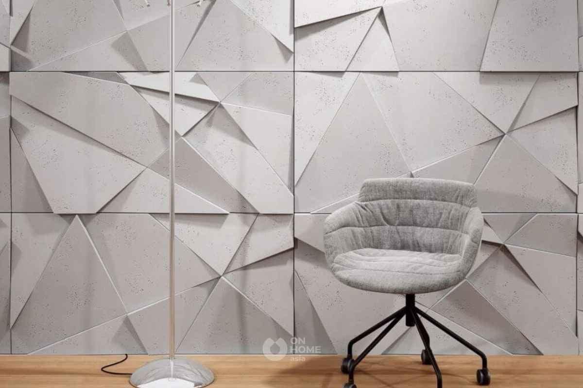 Gạch ốp tường 3D đơn giản ấn tượng