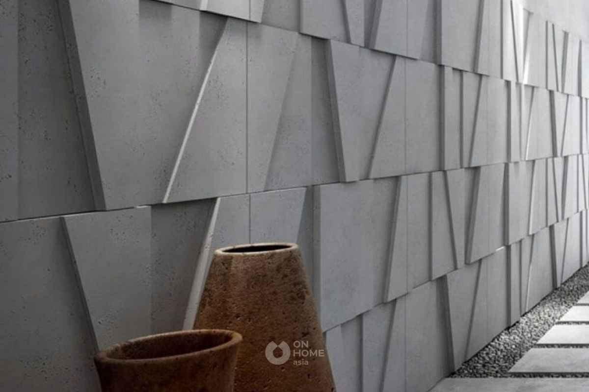Gạch ốp tường 3D đơn giản